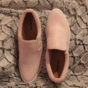 Shoes - Baby Pink Slip On Shoes